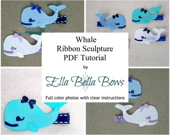 Introductory Price ** Instant Download,Whale Ribbon Sculpture TUTORIAL in PDF