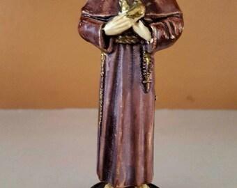 Small vintage statue of Saint Francis, Plastic
