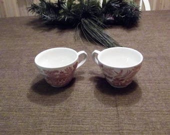 Churchill China *-* WILLOW ROSA PINK *-* Flat Cups, 2 available