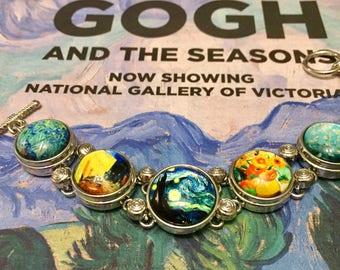 Famous Art Gift Bracelet /Van Gogh artist gift jewellery / famous artist bracelet Van Gogh/ Van Gogh Gift