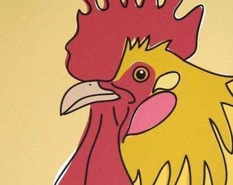 Sneezer - A Chicken in the Farm Series Art Print