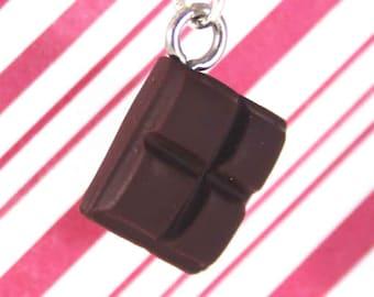 chocolate necklace kawaii polymer clay necklace miniature food jewelry polymer clay food necklace chocolate bar necklace hershey's candy