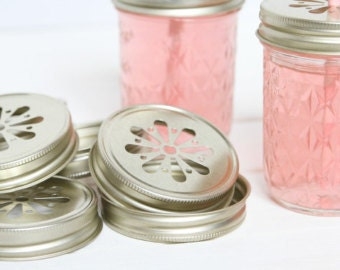 Gold Mason Jar Lids| Mason Jar Lid| Mason Jar| Jar Lids| Rustic| Mason Jar Decor| Wedding| Lids| Farmhouse Decor| Home Decor| Mason Jar
