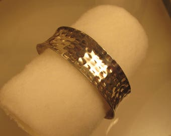 Hammered Cuff  Bracelet Sterling Silver Wide @ A Village Coin Bullion 8/22/4 B
