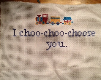 I Choo-Choo-Choose You (and there's a picture of a train) sampler.