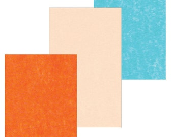 """Tissue Paper for Gift Wrapping: Turquoise, Tangerine Orange, and Peach Puff - 10 Sheets (20"""" x 30""""/Sheet)"""