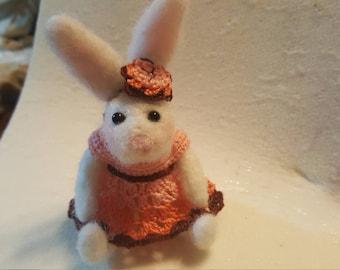 Sweet bunny in dress