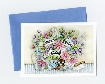 Greeting Card. Drams Wishes & Creativity