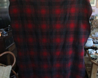 vintage plaid wool pendleton blanket