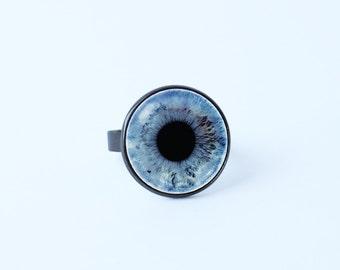 Human eye ring Blue eye ring Eye ring Eye jewelry Girls gift Realistic ring Eyeball ring Gift for women Unique ring Mother gift Jewellery