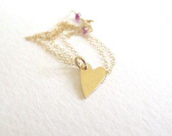 14k solid gold sweetheart necklace