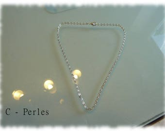 Chain link necklace thin color silver 38 cm