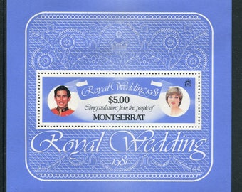 Lady Diana Royal Wedding Souvenir Sheet /Unused Issued  in Montserrat