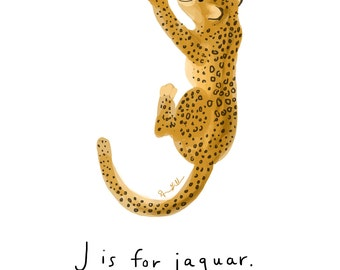 J is for Jaguar Print