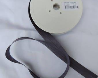 Slate Grey polycotton folded bias width 20 mm