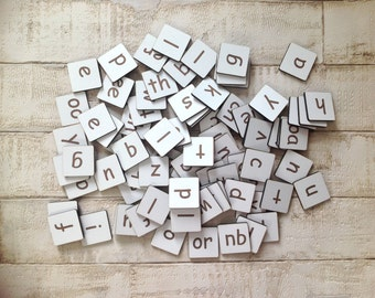Phonics and alphabet letter tiles
