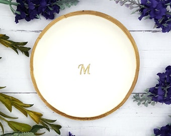 Personalized Ring Dish Initials, Ring dish personalized engagement gift, Ring holder dish personalized, Jewelry dish for ring, Catchall