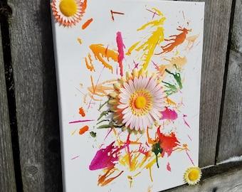 Melted Crayon Flowers   Crayon Drip   Crayon Art   Crayola   Flowers   Canvas Crayons