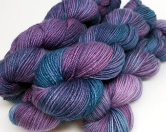 May Nights, Lavender Blue, ColorPurl Ritzy DK, Hand Dyed Yarn, Merino Cashmere Nylon, MCN, DK Weight, 231 yards