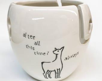 Snape and Lily Always ceramic xl yarn bowl