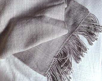 Plaiding Schal - handgewebt - Merino, Nylon, Seide, Kaschmir - grauen Himmel