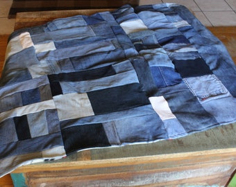 Pet blanket, pet bed, pet mat, dog blanket, cat blanket, recycled denim pet blanket, Large animal blanket, Large pet mat, size Large