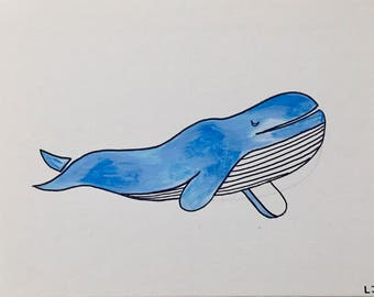 Blue Whale Canvas