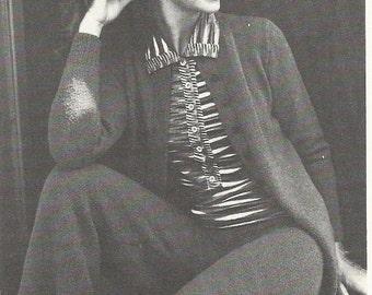 Vintage Ladies Trouser Suit Knitting PDF Pattern