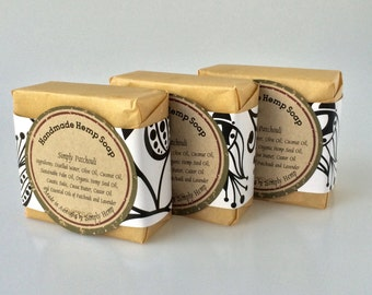 Hand Made Organic Hemp Seed Oil Soap - Simply Patchouli