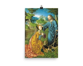 Noli me Tangere - religious poster - Jesus and St Mary Magdalene - catholic art print - religious wall art