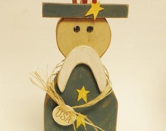 Uncle Sam, Primitive Americana Decor, Country Farmhouse Accents