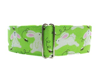 Easter Martingale Dog Collar, Easter Bunny Martingale Collar, Easter Dog Collar, Easter Bunny Dog Collar, Greyhound Martingale Collar