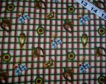 Plaid fabric Moose at Summer Camp Tenderberry Stitches cotton print quilt sewing material for crafts by the yard yardage BTY quilters