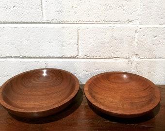 Handmade jarrah bowls, set of 2