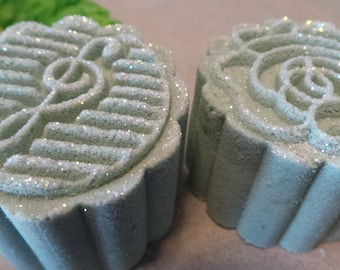 Bubbling Bath Bomb mini's-mooncake style