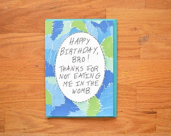 Funny Twin Birthday Card~Pitch Perfect card,pitch perfect birthday card,twin card,brothers birthday card, card for brother birthday