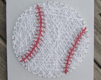 Made to Order String Art Baseball Sign