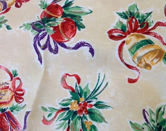 Christmas presents and Holly - Decorator fabric - Christmas fabric - Home dec fabric - Fabric on the bolt, OOP