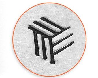 Impress Art 6mm Angled Line Texture Stamp Design Stamp  Decorative Stamp