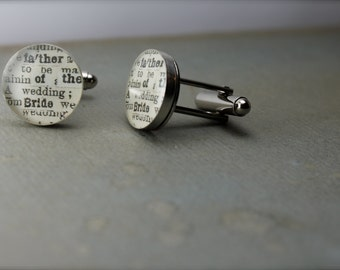 Father of the Bride Cuff Links, Father of the Bride, Father of the Bride Gift, Father of the Bride Cufflinks