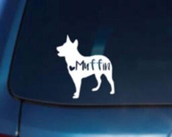 Cattle dog Car Decal, Heeler Decal, Heeler Vinyl Decal, Heeler Laptop Decal, Heeler Locker Decal, Heeler Sticker,Heeler Car Sticker