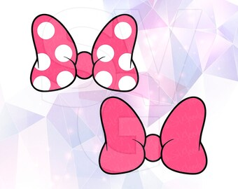SVG DXF PNG Minnie Mouse Ears Bow Polka Dot Clipart Cut File Cricut Design Silhouette Cameo Decal Vinyl Disney Stencil Heat Transfer Iron On