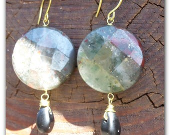 natural gems earrings