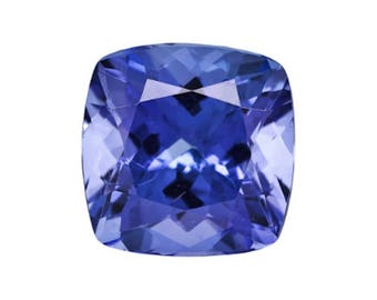 Natural Tanzanite Gemstone AA Violet Blue Cushion Loose Stones (4x4mm - 7x7mm)