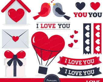 Valentine clipart, Love birds clipart, Valentines day clipart, Valentine scrapbooking, Bird clipart, Love letter - CA362