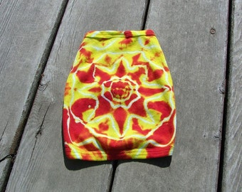 Tye Dye Toy Dog Tee (Small) Pet Tank Top - Fiery Sun Mandala