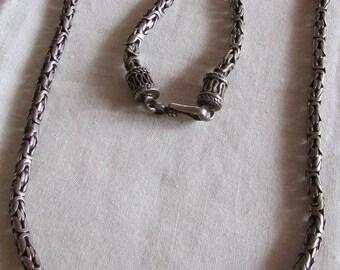 "Sterling Silver Byzantine Chain 20 1/4"""