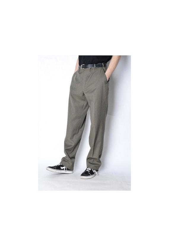 Vintage 90s Khaki Wool Blend Pants Size W 31 VbHUSG1