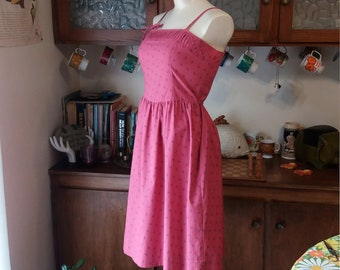 Bubblegum Girl Vintage Pink Summer Dress by Lanz Originals