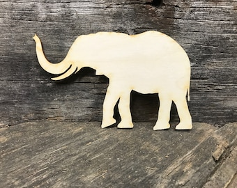 Elephant, wood, unfinished wood, craft, kids craft, sign, wall sign, kids room, party favors, unfinished craft, animal, wooden elephant